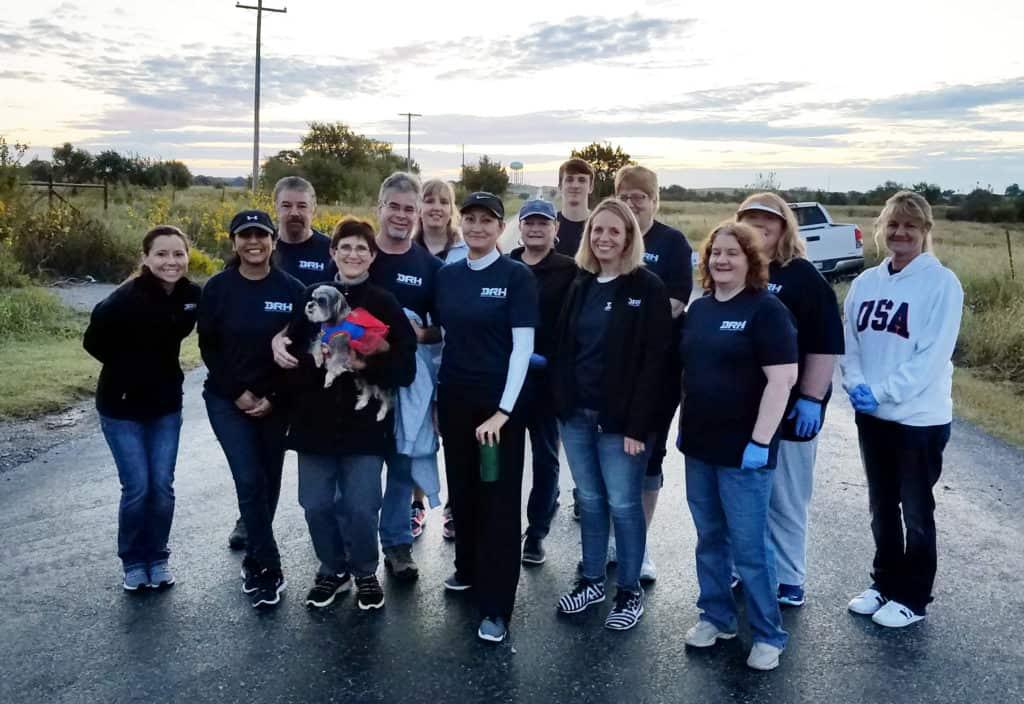photo of a group of duncan regional volunteers